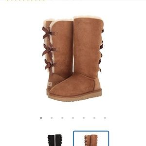 Ugg Bailey bow tall ll boots  size 5 chestnut